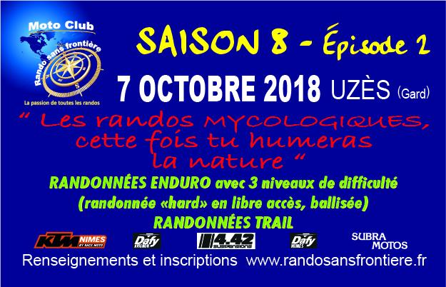 Randos Mycologiques le 7 octobre 2018 à Uzès