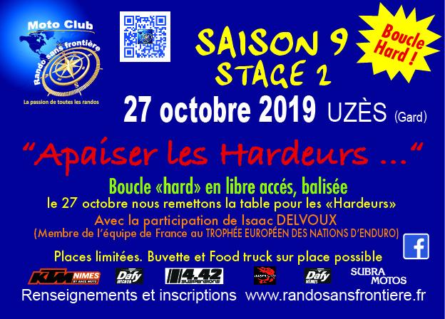 """Randos """"Apaiser les Hardeurs…"""" le 27 octobre 2019 à Uzès"""